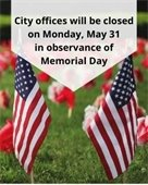 City Office's Closed May 31st