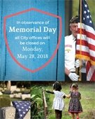 City Offices Closed - Memorial Day