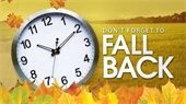 Daylight Savings Time Ends November 4th