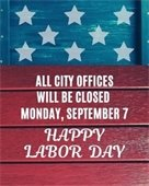 Labor Day City Offices Closure