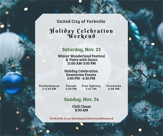 Holiday Celebration Weekend Events