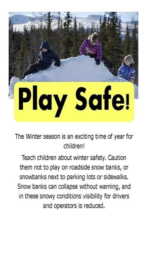 Play Safe in the Snow