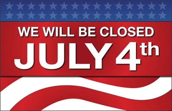City Hall Closed July 4