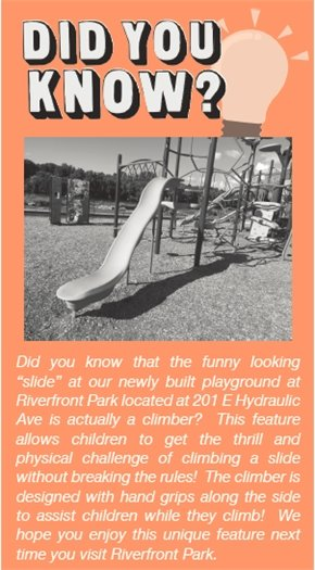 Did You Know Slide Climber Riverfront Park Playground