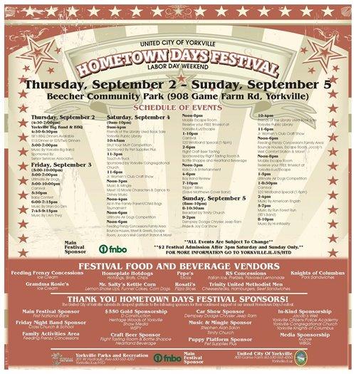 Hometown Days Schedule 2